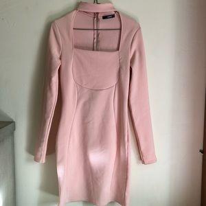 Pale pink Quiz party dress